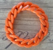 Gliederketten-Armband orange