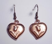 Hearts with rose Earrings B-Stock