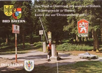 Dreiländereck Bayerischer Wald Karte.Dreiländereck Dreisessel Bayrischer Wald 1267 0 80 Karten