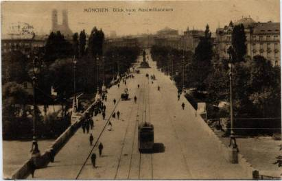 München / Munich, View from Maximiliannum