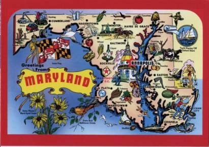 Maryland - Landkarte