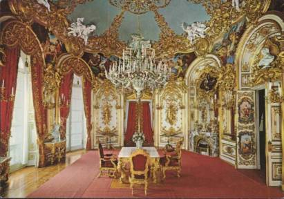 "Royal Castle Herrenchiemsee - Dining Room with the ""magic table"""