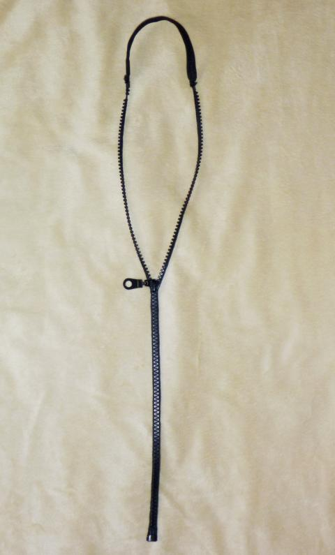 Zipper Chain black B-Stock