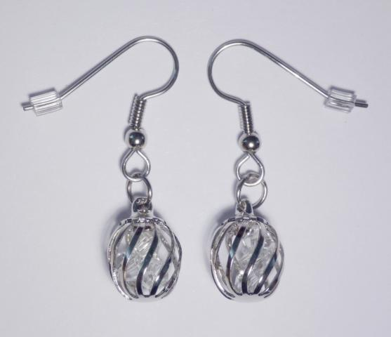Crystal Cage Earrings clear