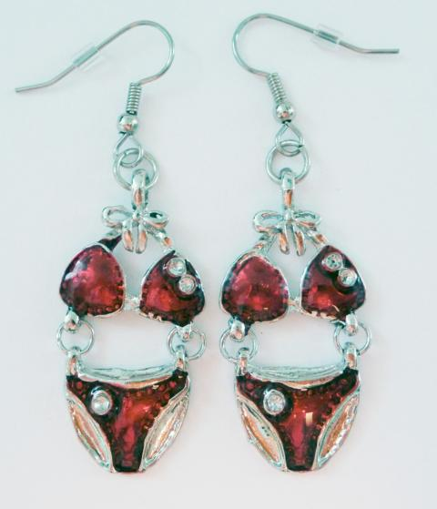 Bikini Earrings red