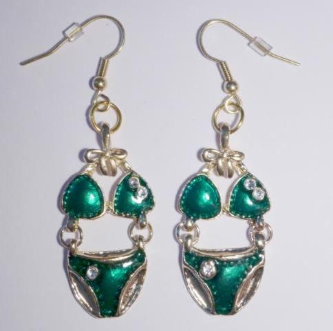 Bikini Earrings green