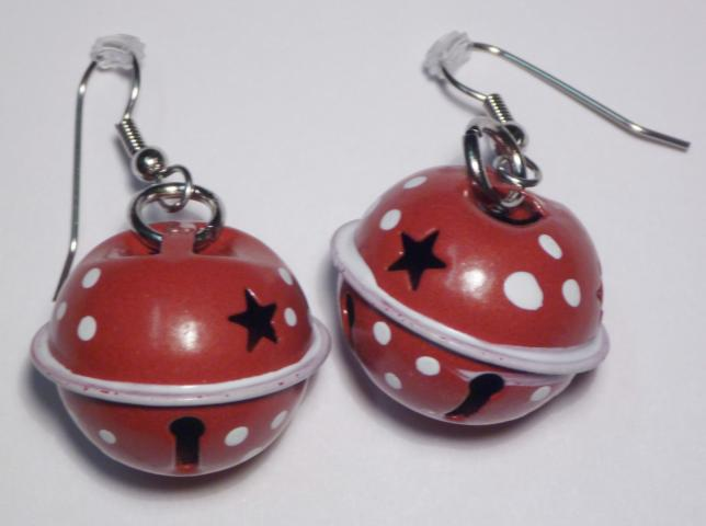 Chistmas Balls Earrings red
